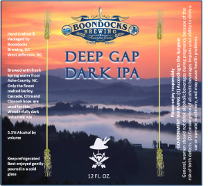Deep Gap Dark IPA