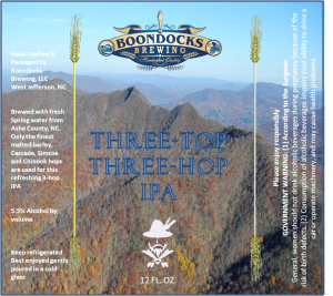 Three Top Three Hop IPA