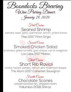 Wine Dinner Jan 28 2020
